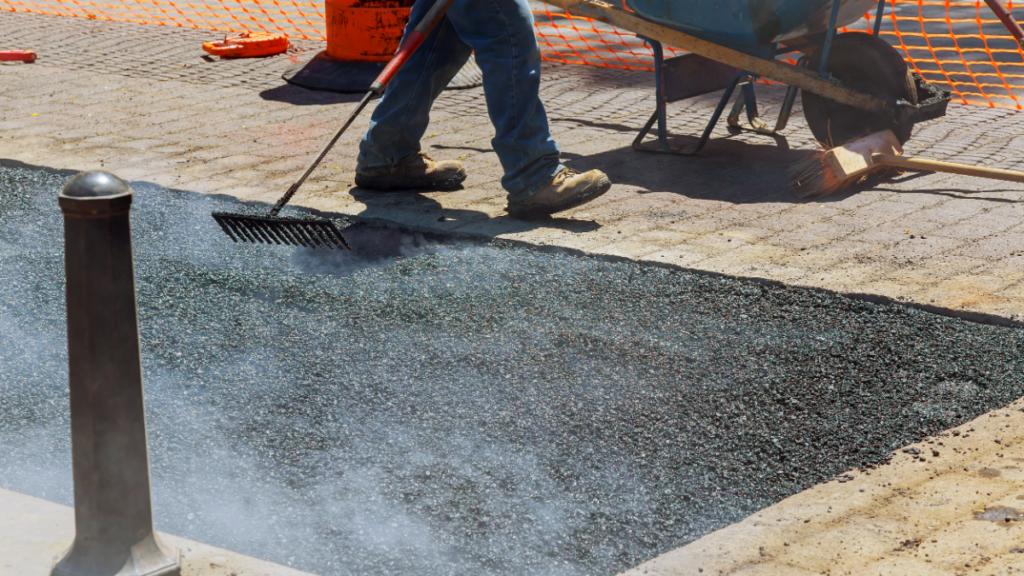 Figure shows the road construction using bitumen