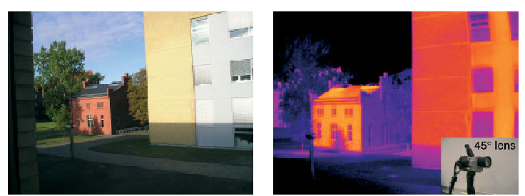 Digital and Infrared image of a building