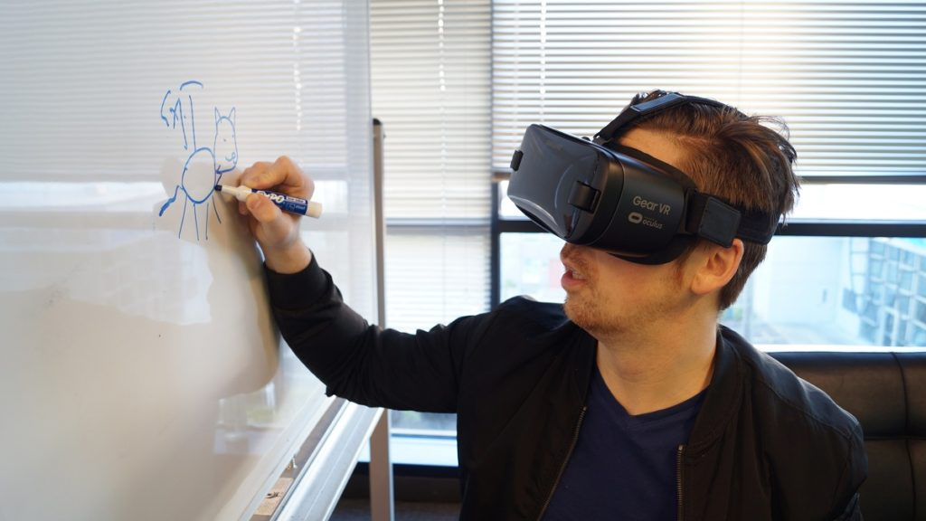 Man leveraging AR for a purpose