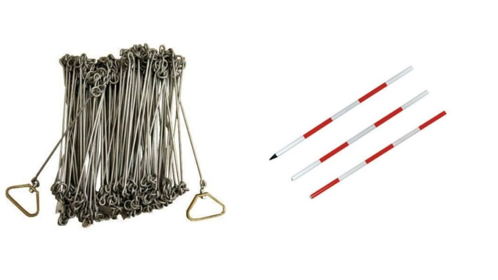 Chain surveying - Chain & ranging rod