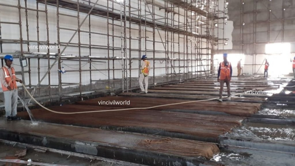 Curing by wetting -methods of concrete curing
